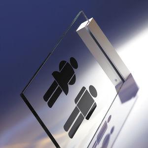 placa de señalización de orientación