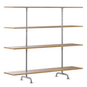 estantería contemporánea / de madera lacada / de roble / de fresno
