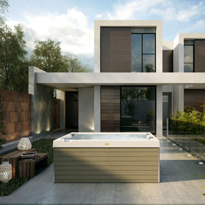 spa sobre suelo / rectangular / 3 plazas / de exterior