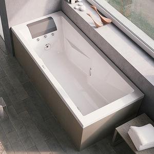 bañera independiente / de fibra acrílica / hidromasaje / para cromoterapia