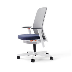 sillón de oficina contemporáneo / de tejido / de malla / con ruedas