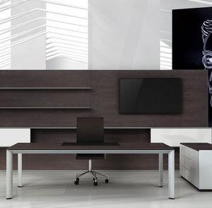 escritorio de director / de madera / de aluminio / contemporáneo