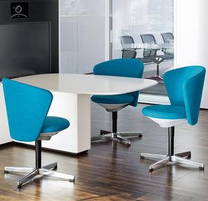 silla de visita contemporánea / tapizada / con ruedas / con patas en forma de estrella