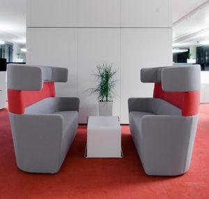 mesa de centro contemporánea / de MDF / de material laminado / rectangular