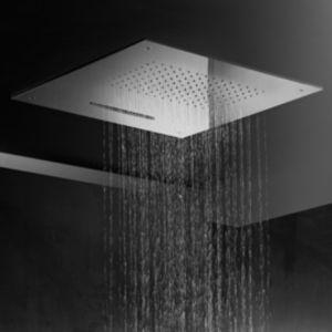rociador de ducha empotrable de techo / cuadrado / lluvia / cascada