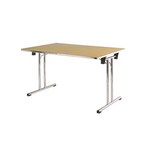 base de mesa de metal cromado
