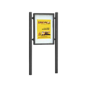 panel indicador de exterior / de acero galvanizado / de aluminio anodizado / de aluminio fundido