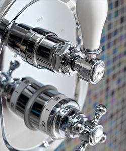 grifo monomando para ducha / de pared / de metal / de baño