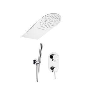 set de ducha empotrable de pared / contemporáneo / con alcachofa / con rociador fijo