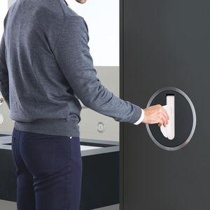 dispensador de toallas de mano empotrable / de acero inoxidable / de latón / de ABS