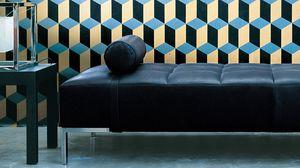diván contemporáneo / de tejido / de cuero / de acero