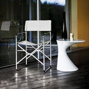 silla contemporánea / con reposabrazos / plegable / con revestimiento removible
