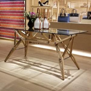 mesa contemporánea / de vidrio / de mármol / de material compuesto