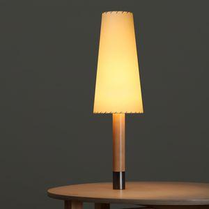 lámpara de mesa / contemporánea / de níquel / de bronce