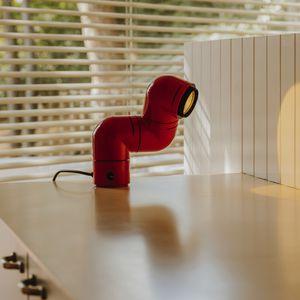 lámpara de mesa / de diseño original / de ABS / ajustable