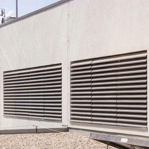 rejilla de ventilación de aluminio / rectangular / acústica