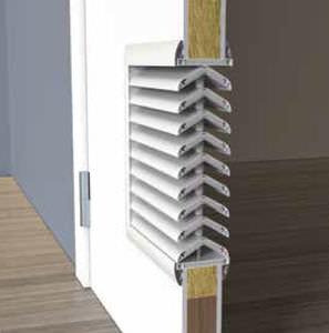 rejilla de ventilación de poliestireno / de plástico / rectangular / antiincendios