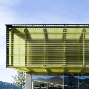 panel de policarbonato ondulado / acanalado / para muro-cortina / translúcido