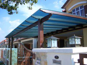 marquesina para terraza / de policarbonato / de metacrilato / de metal