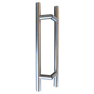 tirador de puerta para puerta de cristal / para puerta de ducha / de acero inoxidable cepillado / contemporáneo