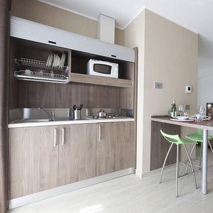 cocina contemporánea / de melamina / compacta / modular