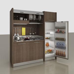 kitchenette oculta / compacta / con electrodomésticos incluidos / para estudio
