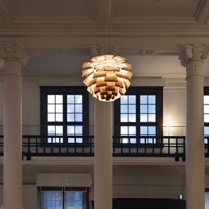 lámpara suspendida / contemporánea / de acero cromado / de aluminio