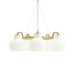 lámpara suspendida / contemporánea / de latón pulido / de vidrio soplado