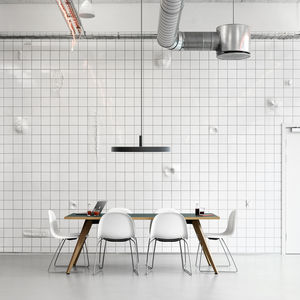 lámpara suspendida / contemporánea / de aluminio fundido / de fibra acrílica