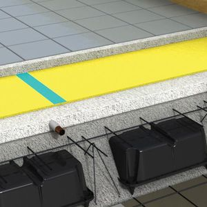 capa de aislamiento acústico en rollo / de polietileno / aislante