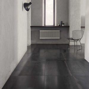 baldosa de interior / de suelo / de metal / rectangular