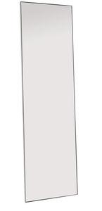 espejo de pie / contemporáneo / rectangular / de acero inoxidable