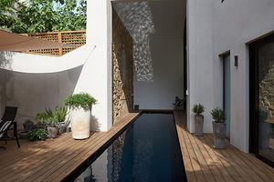 piscina enterrada / de hormigón / de madera / a medida