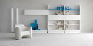 estantería mural / contemporánea / de madera / de madera lacada