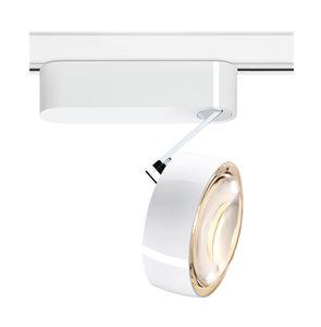 iluminación sobre riel halógena / LED / redonda / de metal