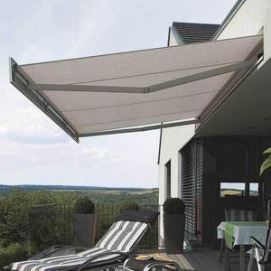 toldo punto recto / manual / motorizado / para terraza