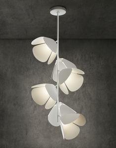 lámpara suspendida / contemporánea / de aluminio / de hierro