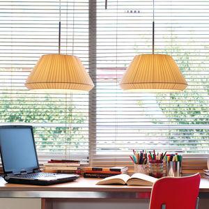 lámpara suspendida / contemporánea / de algodón / de hierro