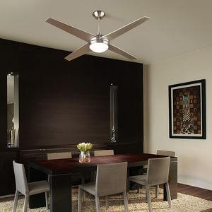 ventilador de techo / residencial / de aluminio / de vidrio