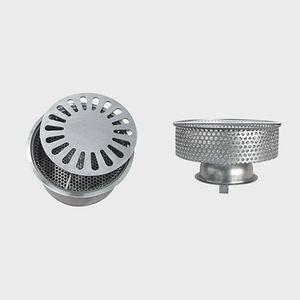 sumidero sifónico de acero inoxidable / para aplicaciones industriales / con rejilla / con filtro extraíble