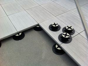 suelo técnico de hormigón / hidrófugo / de exterior
