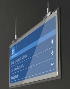 panel de señalización suspendido