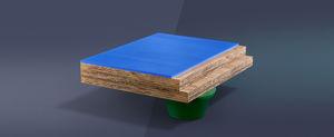 pavimento deportivo sintético / de madera / de interior / para sala polideportiva