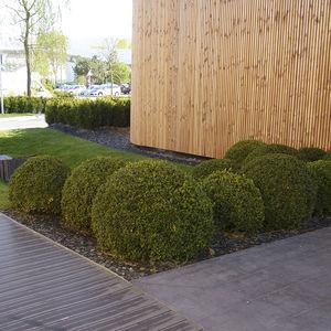 bordillo de jardín / de acero inoxidable / curvado