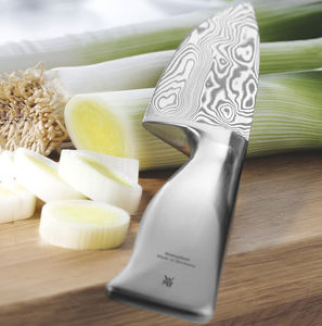 cuchillo de chef con hoja de acero de Damasco