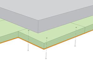 aislante termoacústico / de lana de madera / para forjado / tipo panel