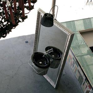 lavabo suspendido / ovalado / de vidrio / de cobre