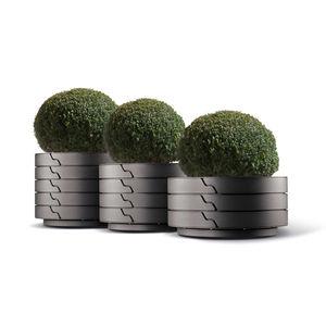jardinera de metal / redonda / contemporánea / para espacio público