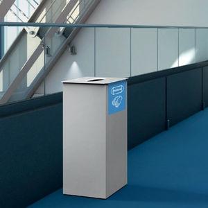 cubo de basura higiénico / de acero con revestimiento en polvo / para espacio público / 60L