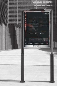 panel indicador de exterior / de acero inoxidable